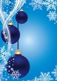 Blauer Winterhintergrund Lizenzfreie Stockbilder