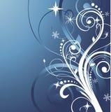 Blauer Winterhintergrund Stockfoto