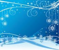 Blauer Wintervektorentwurf stockbilder