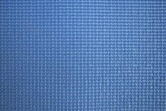 Blauer Yogamatten-Beschaffenheitshintergrund Stockfoto