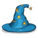 Blauer Zauberer-Hut Lizenzfreie Stockfotos