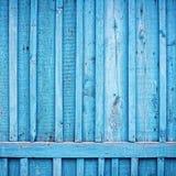 Blauer Zaun Stockfotografie