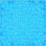 Blauer Zellenwasserhintergrund lizenzfreie abbildung