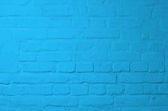 Blauer Ziegelsteinhintergrund Stockfoto