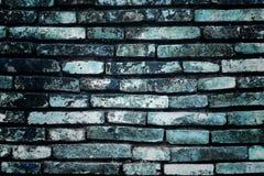 Blauer Ziegelsteinwandhintergrund Lizenzfreie Stockfotografie