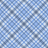Blaues überprüftes nahtloses Muster des Gewebes Stockfotos