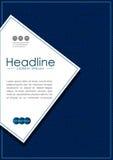 Blaues Abdeckungsdesign mit Labyrinthhintergrundmuster Vektor Lizenzfreie Stockbilder
