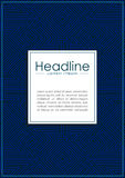 Blaues Abdeckungsdesign mit Labyrinthhintergrundmuster Vektor Lizenzfreie Stockfotografie