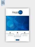 Blaues Abdeckungsdesign in A4 Vektor Stockfotografie
