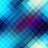 Blaues abstraktes diagonales Muster Stockfoto