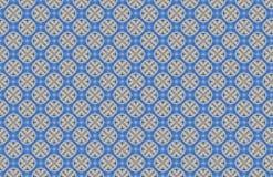 Blaues abstraktes Entwurfs-Muster der Kreis-Mehrfachverbindungsstellen-X stock abbildung