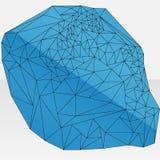Blaues abstraktes geometrisches Design Stockbild