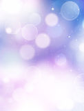 Blaues abstraktes Hintergrund bokeh Lizenzfreie Stockfotografie