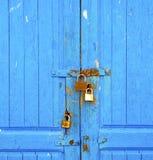 blaues abstraktes Metall in englan London Lizenzfreie Stockbilder