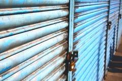 blaues abstraktes Metall im englan Hintergrund Lizenzfreie Stockbilder