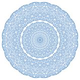 Blaues abstraktes Radial-hape mit Muster vektor abbildung