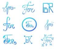 Blaues abstraktes Vektorzeichen Hand geschriebener Brief für Webdesignbuch, Einladung Buntes Alphabet illustrtion Muster 08 vektor abbildung