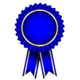 blaues Abzeichen mit Farbband lizenzfreie abbildung