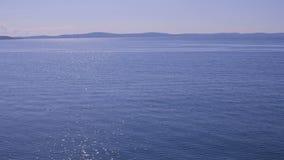 Blaues adriatisches Meer stock video footage