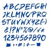 Blaues Alphabet Stellen und Flecke Lizenzfreies Stockfoto