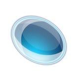 Blaues aquabutton Lizenzfreie Stockbilder