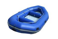 Blaues aufblasbares Boot stockbilder