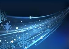 Blaues Auszugs-Weihnachten stock abbildung