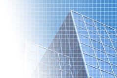 Blaues Büro mit Rasterfeld lizenzfreie abbildung