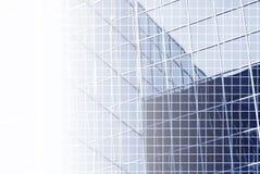 Blaues Büro mit Rasterfeld Stockbilder