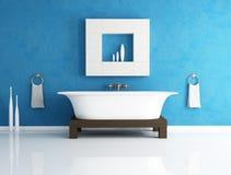 Blaues Badezimmer Stockfotografie