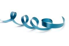 Blaues Band auf Weiß Lizenzfreie Stockbilder