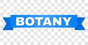 Blaues Band mit BOTANIK Titel vektor abbildung