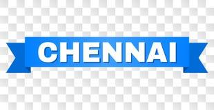 Blaues Band mit CHENNAI-Titel lizenzfreie abbildung