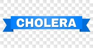 Blaues Band mit CHOLERA Text vektor abbildung