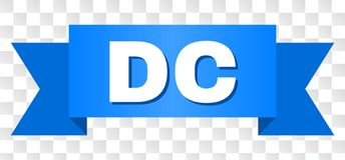 Blaues Band mit DC-Text vektor abbildung