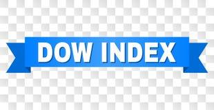Blaues Band mit Dow-INDEX Titel lizenzfreie abbildung