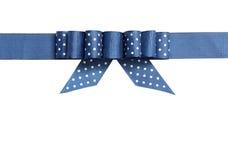 Blaues Band mit einem Bogen Stockbild