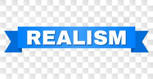 Blaues Band mit REALISMUS Titel lizenzfreie abbildung