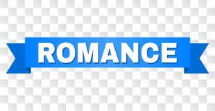 Blaues Band mit ROMANZE Text stock abbildung