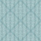 Blaues barockes helles Muster Stockfoto