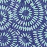 Blaues Batik-Muster Lizenzfreie Stockfotografie