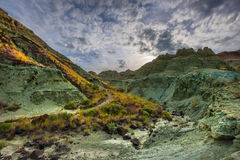 Blaues Becken in John Day Fossil Beds Stockbild