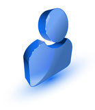Blaues Benutzerprofilsymbol Stockfoto