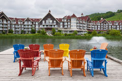Blaues Bergdorf, Collingwood, Kanada Stockfoto