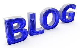 Blaues Blogzeichen Stockfoto