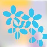 Blaues Blumenkonzept Stockbild