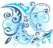 Blaues Blumenmuster vektor abbildung