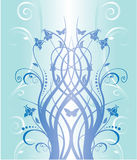 Blaues Blumenmuster Stockfoto