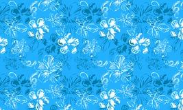 Blaues Blumenmuster Lizenzfreie Stockfotos