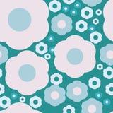 Blaues Blumenmuster Lizenzfreie Stockbilder